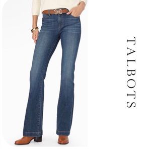 Talbots flawless five pocket flare jeans size 14